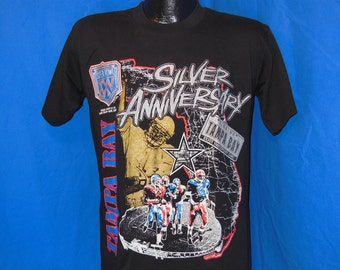 90s Super Bowl XXV Silver Anniversary Game Tampa Bay, FL Black Vintage t-shirt Medium