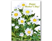 MOTHER'S DAY Card  - Daisies - Springtime Flowers - Also available as a Print with a Free Mat - Great Mother's Day Gift (CMDAY201517)