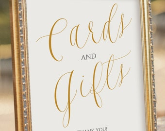 ELEGANT Printable Cards and Gifts Sign - Wedding Reception Sign