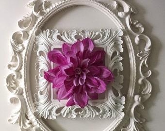 Electric Lavender Dahlia Hair Clip