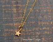 Tiny Gold Star Necklace, Gold Vermeil Star Necklace, Little Gold Star Necklace, Celestial Jewelry, Gold Star Jewelry