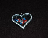 6 USA Floating Locket Charms - Fits Origami Owl - Southern Hill Designs - Military Locket Charms