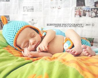 Crochet Dinosaur Hat and Diaper Cover Set, Dino Hat, Dino Diaper Cover, Dinosaur Hat, Newborn Dinosaur Hat, Newborn Dino Photoprop