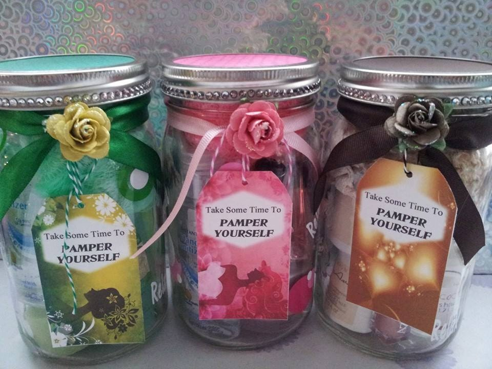 Pamper yourself gift jars for christmas