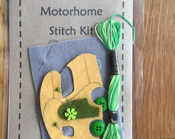 Cute little campervan stitch kits