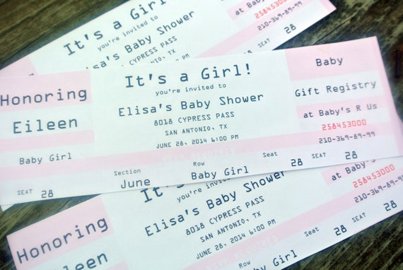 Print your own ticket event concert invitation soft pink for Make your own concert tickets