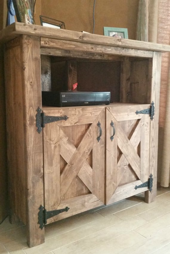 Rustic Corner Tv Console Entertainment Center Dining Hutch