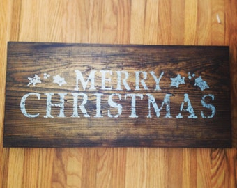 Hand Painted Merry Christmas Signs and Wall Decor