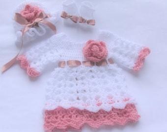 crochet baby dress, white baby dress, baby girl dress, baby girl clothes, baby girl outfit,infant girl clothes, infant girl clothing