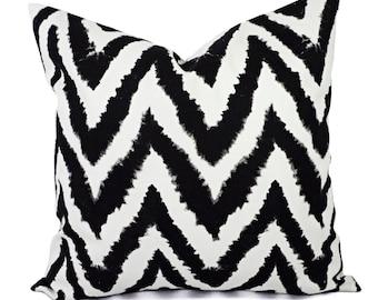 Decorative Pillow Covers - Two Black Chevron Throw Pillows - Chevron Pillow Cover - Accent Pillow - 12x16 12x18 14x14 16x16 18x18 20x20