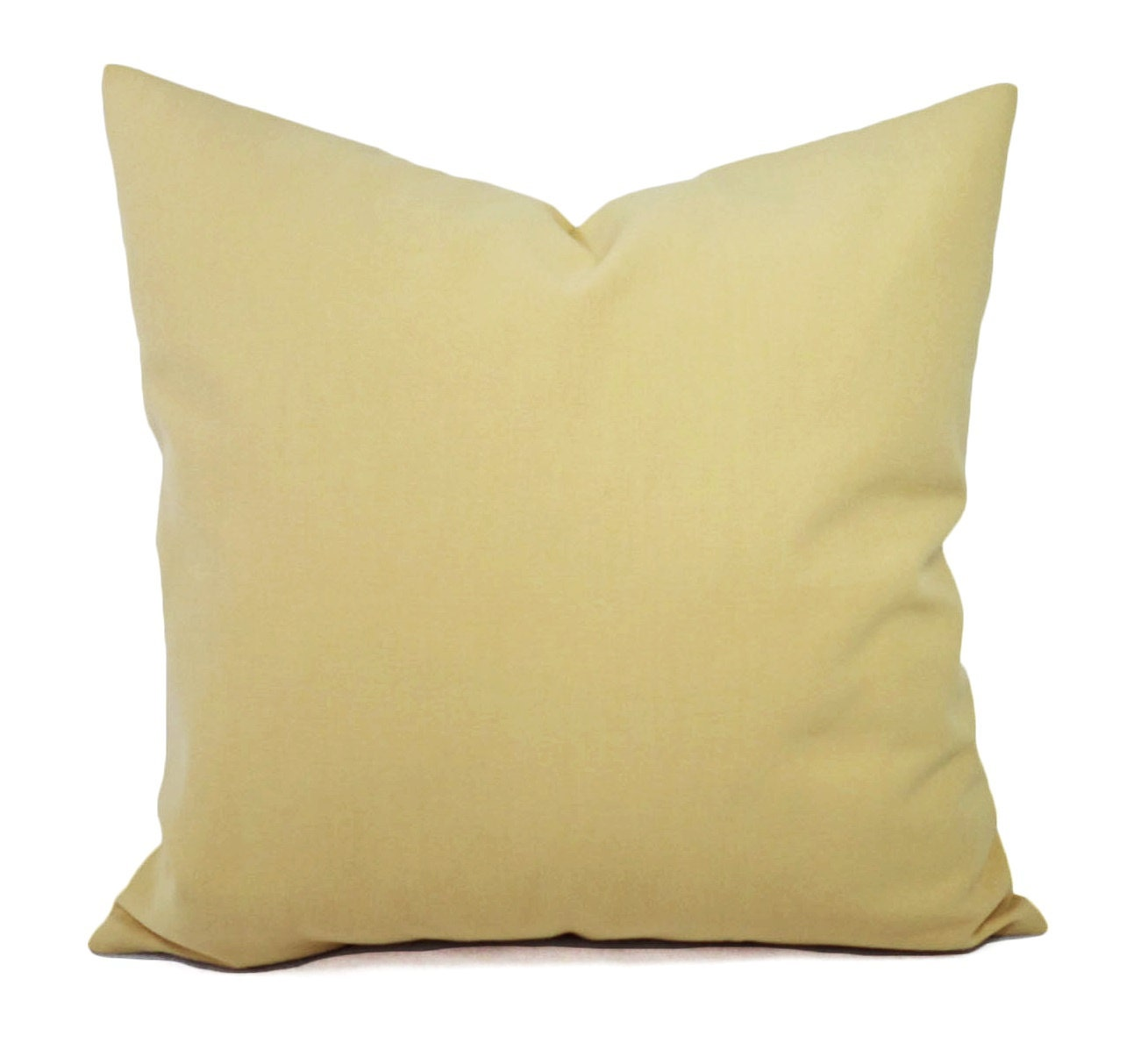 Solid Decorative Throw Pillows : Two Yellow Solid Decorative Pillow Covers Saffron Yellow and