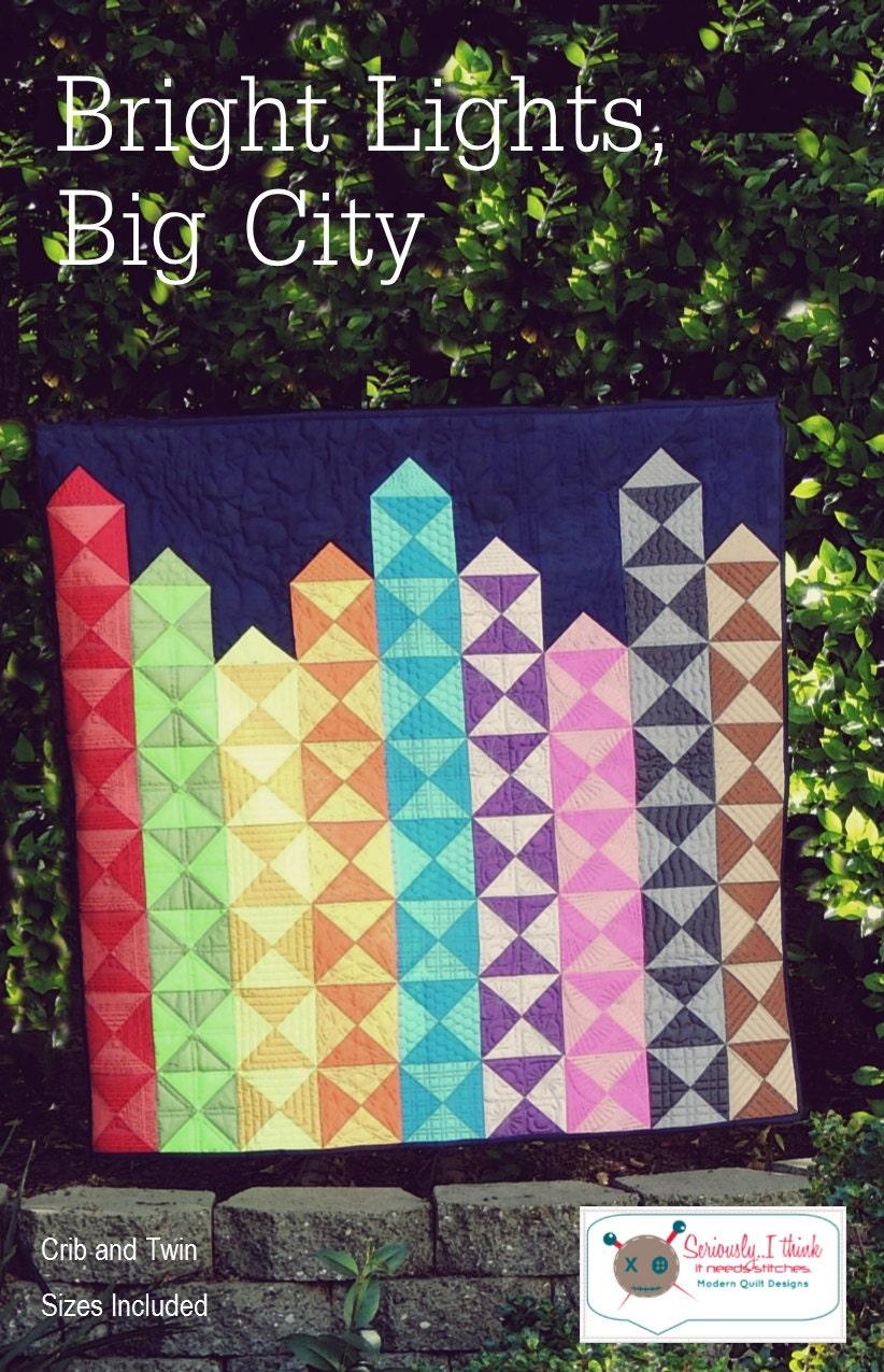 Bright Lights Big City Crayon Quilt