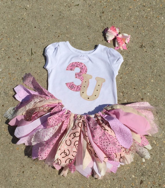 Shabby chic pink cowgirl outfit horseshoe vintage cowgirl birthday outfit light pink country - Shabby chic outfit ideas ...