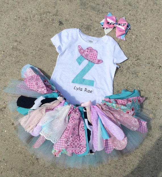 Shabby chic cowgirl birthday outfit vintage cowgirl tutu - Shabby chic outfit ideas ...