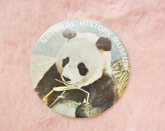Vintage Retro 80s London Natural History Museum Zoo Panda Conservation Jungle China Cute Pin Badge