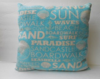 16 inch beach words pillow