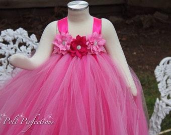 Pink Tutu Dress-Flower Girl Dress