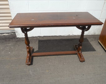 Victorian period library table a superb antique late 19th / early 20TH century American mahogany wood library table American furniture