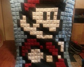 Crochet Mario Afghan