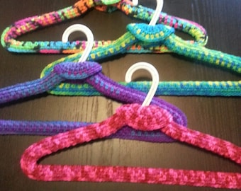 Set of 4 Crocheted Hangers