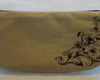 Linen Clutch Bag Evening Clutch Special Occasion Clutch  - Trumpet Vine