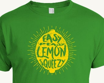 Funny Lemon T-shirt, Easy Peasy Lemon Squeezy