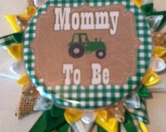 John Deer inspired mommy to be button