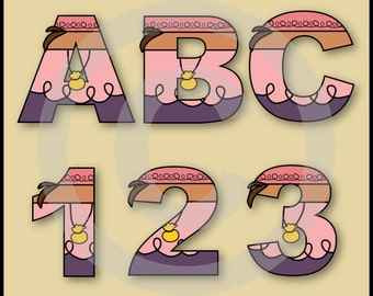 Izzy (Neverland Pirates) Alphabet Letters & Numbers Clip Art Graphics