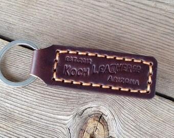 Koch Leather Key Fob