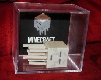 """MineCraft Ghast""""Display"""" Ready To Ship...intended for Display..Steve will Come Out Of Case....(New)"""
