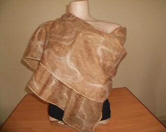 handmade felting scarf