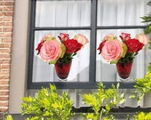 2 pcs 'Flat Flowers' Window Decals (Roses)