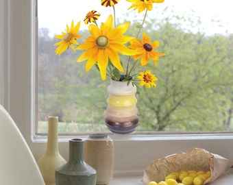 2 pcs 'Flat Flowers' Window Decals (Sunflowers)