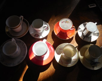 ten tiny tea cups (demitasse) for your tiny tea party, so cute for small hands, and at this price, if they break them, oh well!
