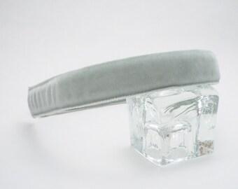 Silver/Grey Velvet Headband