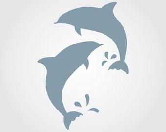 Dolphins Craft Stencil