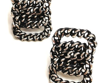 Vintage Shoe Clips - Upright Silver Chain