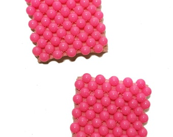 Vintage Shoe Clips - Pink Beads
