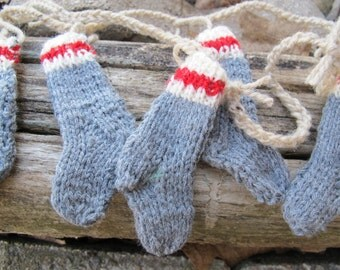 Work sock garland (choice of length) / rustic mini sock garland / Man cave garland / Rustic garland / Stocking bunting
