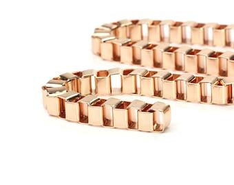 8mm Box Chain, Rose Gold Chunky Chain, Pkg of 1 meter, CB085.1C