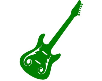 "Guitar - Vinyl Decal Sticker - Electric Acoustic Classical String Rock 5"" x 4.5"" *Free Shipping*"