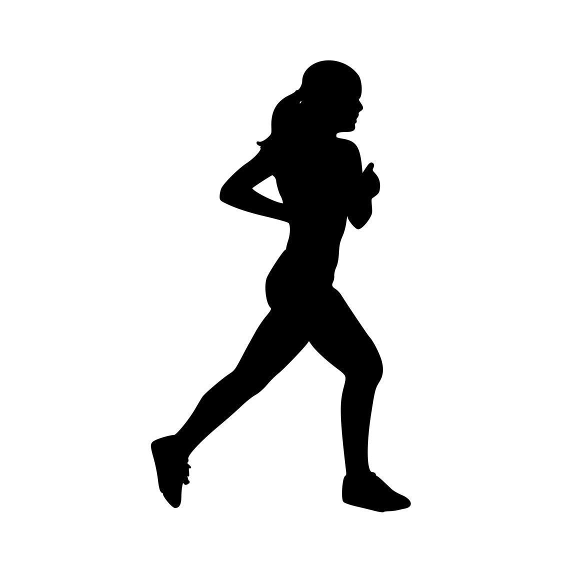 Track Runner fille femmes Marathon 10k 5 k 1/2 demi vinyle