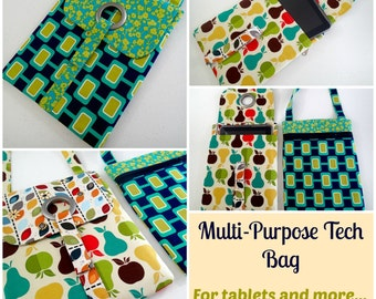 Tech or Tablet Tote Bag - PDF Sewing Pattern