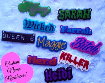 Custom Name Necklaces!, MADE TO ORDER, Personalized jewelry, nicknames, favorite words, unique, cute