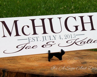 Unique Wedding Gifts for Couple, Parent Plaque, Personalized Wooden Sign, Personalized Family Name Signs, Wedding Gifts for Couple Last Name