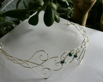 Elven Circlet Headpiece Headdress Hair Accessory Moon Tiara Wedding Hair Accesory