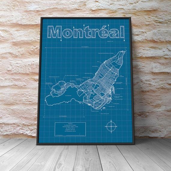 Montreal Street Map Montreal Map / Original
