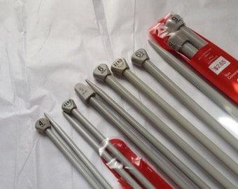 AERO, Morralls Aero, 14 Inch, Cap Size in mm, Single Point, Knitting Needles, Aluminum, Plastic, Grey, Made in England, European Market