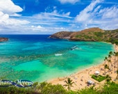 "Scenic Hawaiian Shores of Hanauma Bay Fine Art Print titled ""Visions"" on 5""x7"", 8""x10"", or 11""x14"" White or Black Mat"