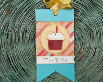 Happy Birthday Tag, Cupcake Tag, Celebrations, Birthday, Gift Tag